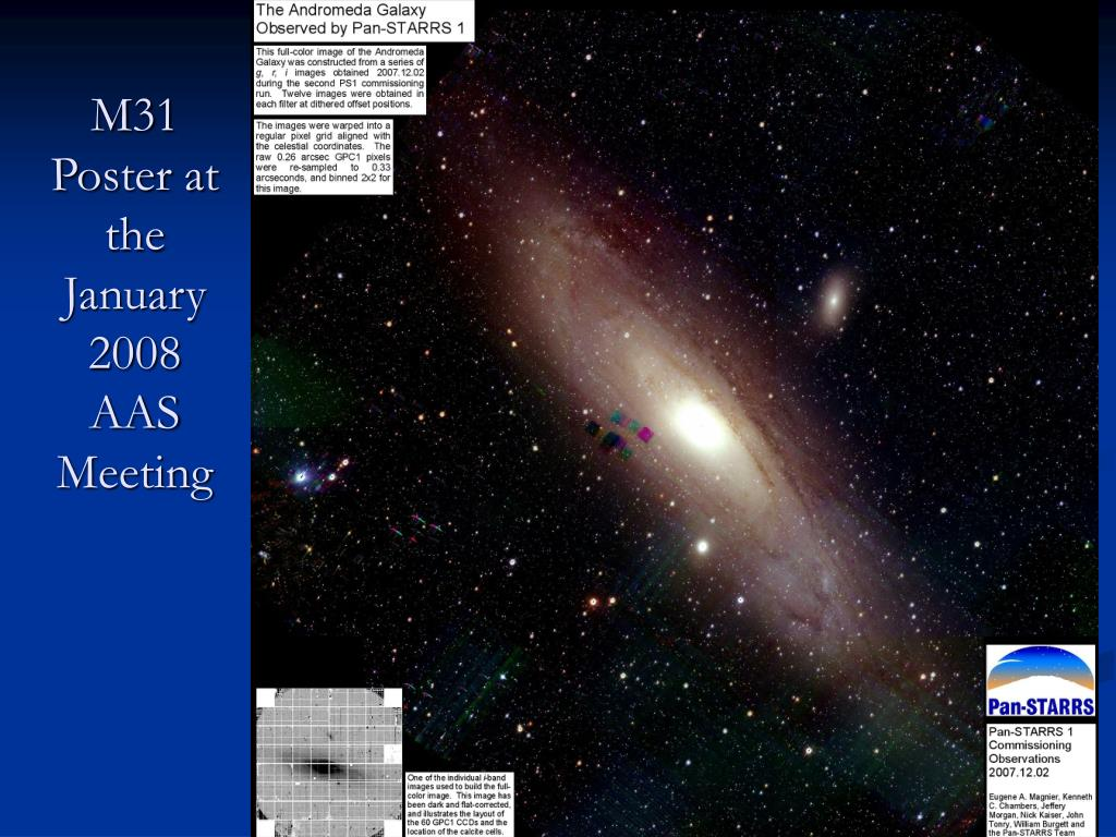 M31 Poster at the January 2008