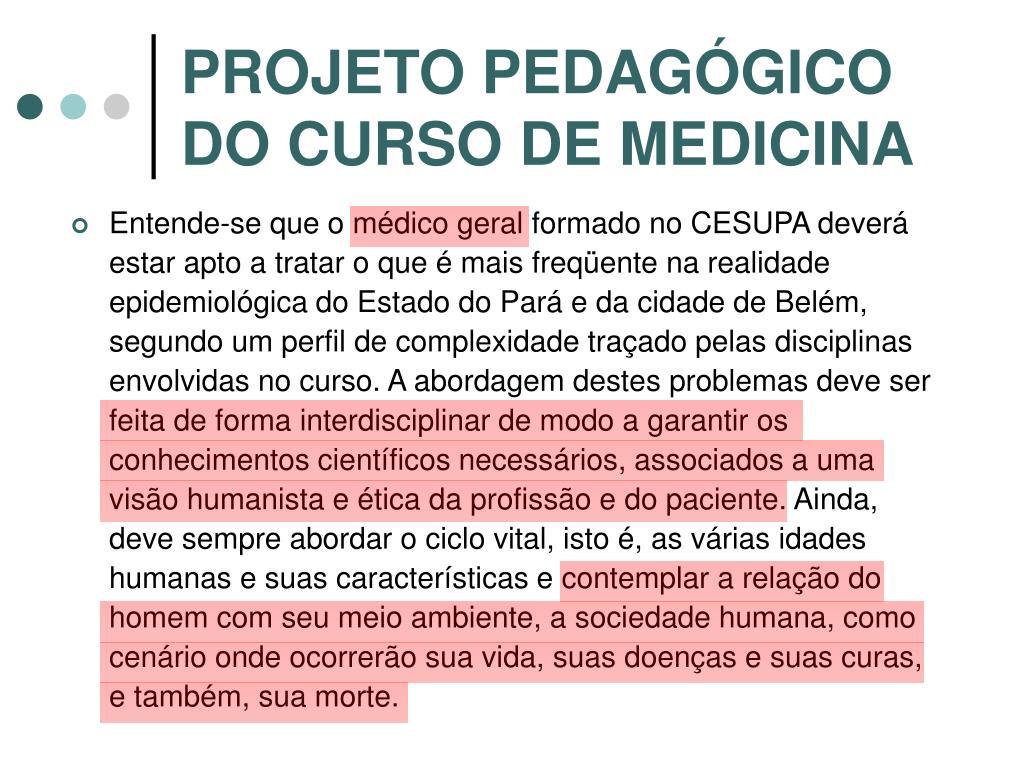 PROJETO PEDAGÓGICO DO CURSO DE MEDICINA