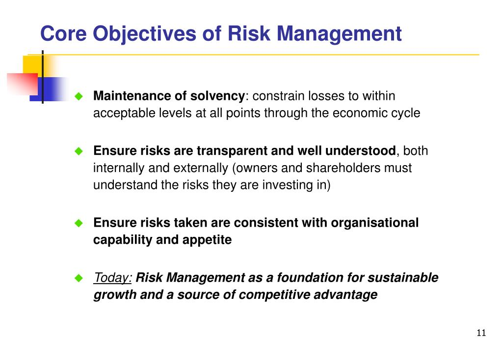 Core Objectives of Risk Management