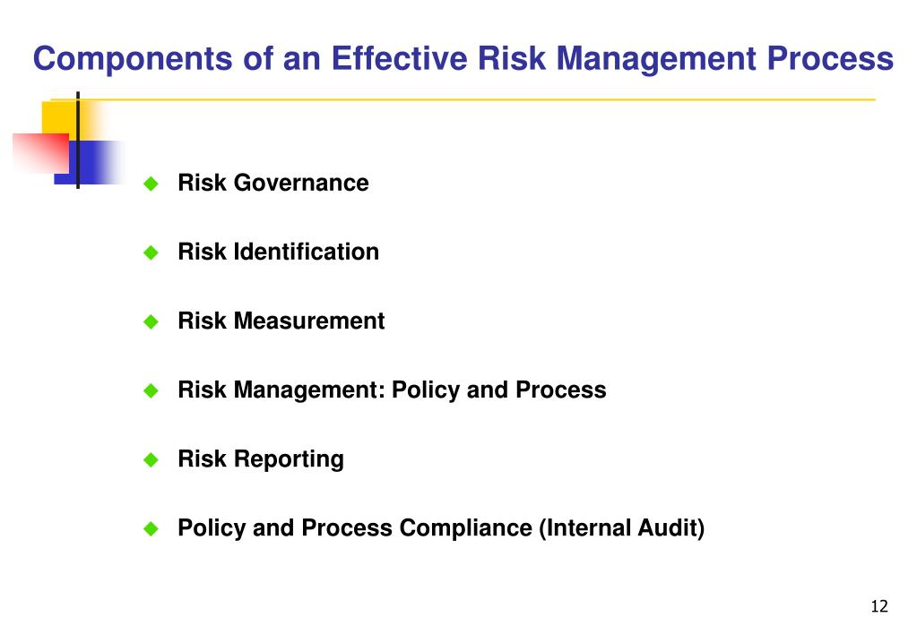 Components of an Effective Risk Management Process