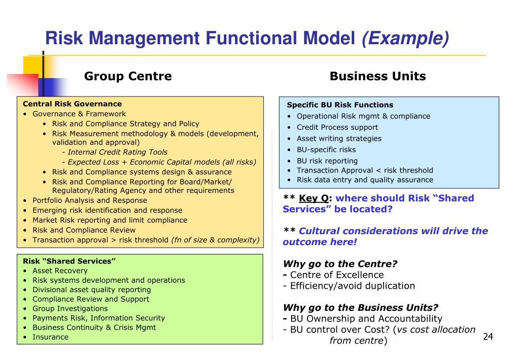 Risk Management Functional Model