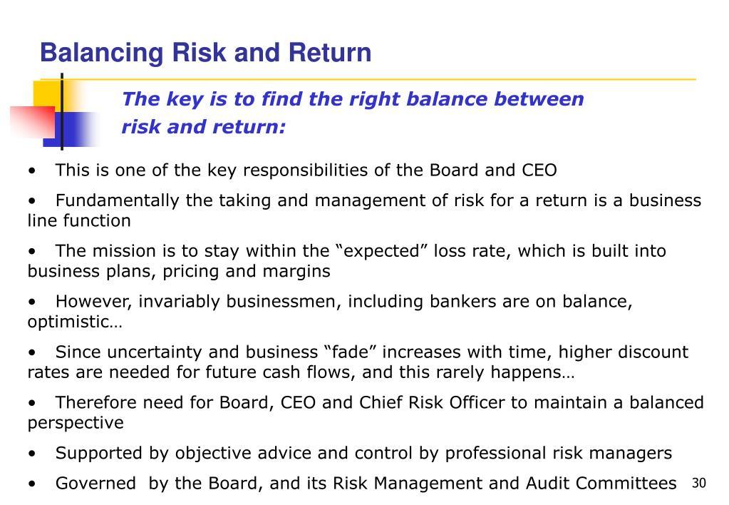 Balancing Risk and Return