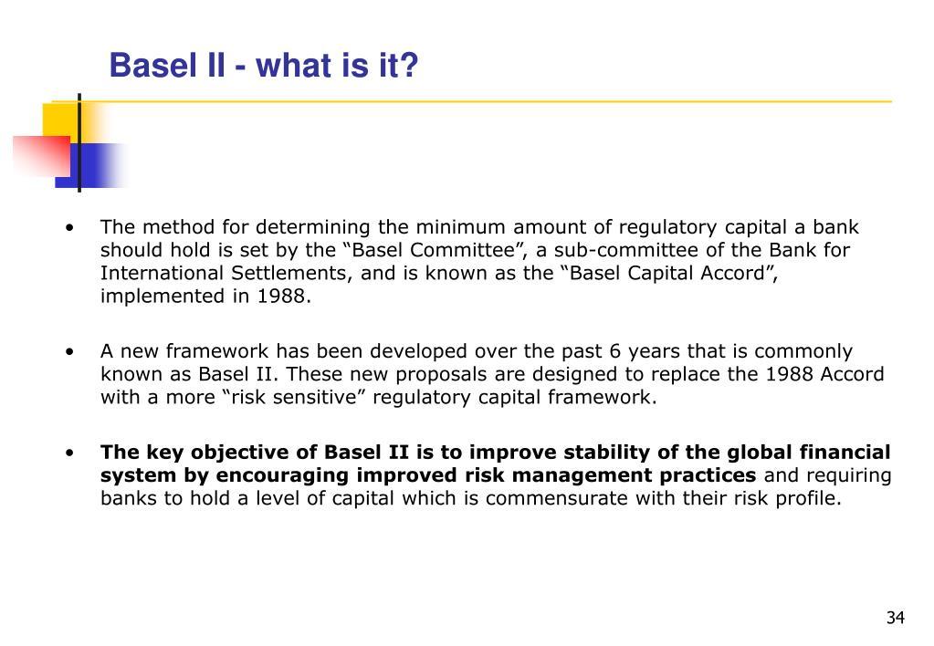 Basel II - what is it?