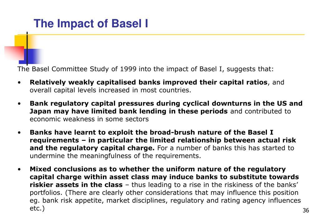 The Impact of Basel I