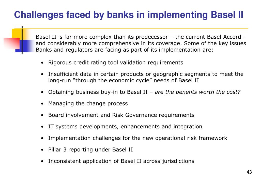 Challenges faced by banks in implementing Basel II