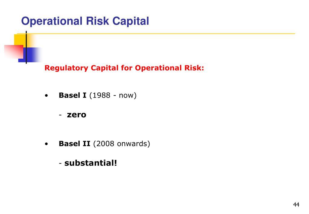 Operational Risk Capital
