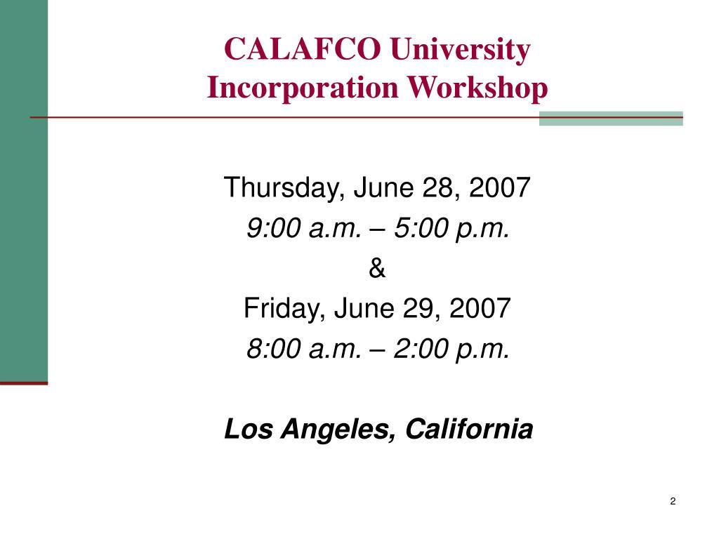 CALAFCO University
