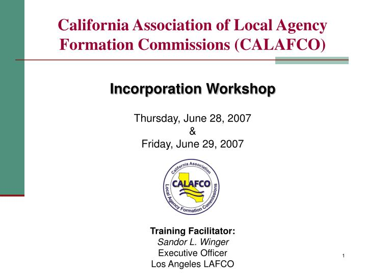 California association of local agency formation commissions calafco