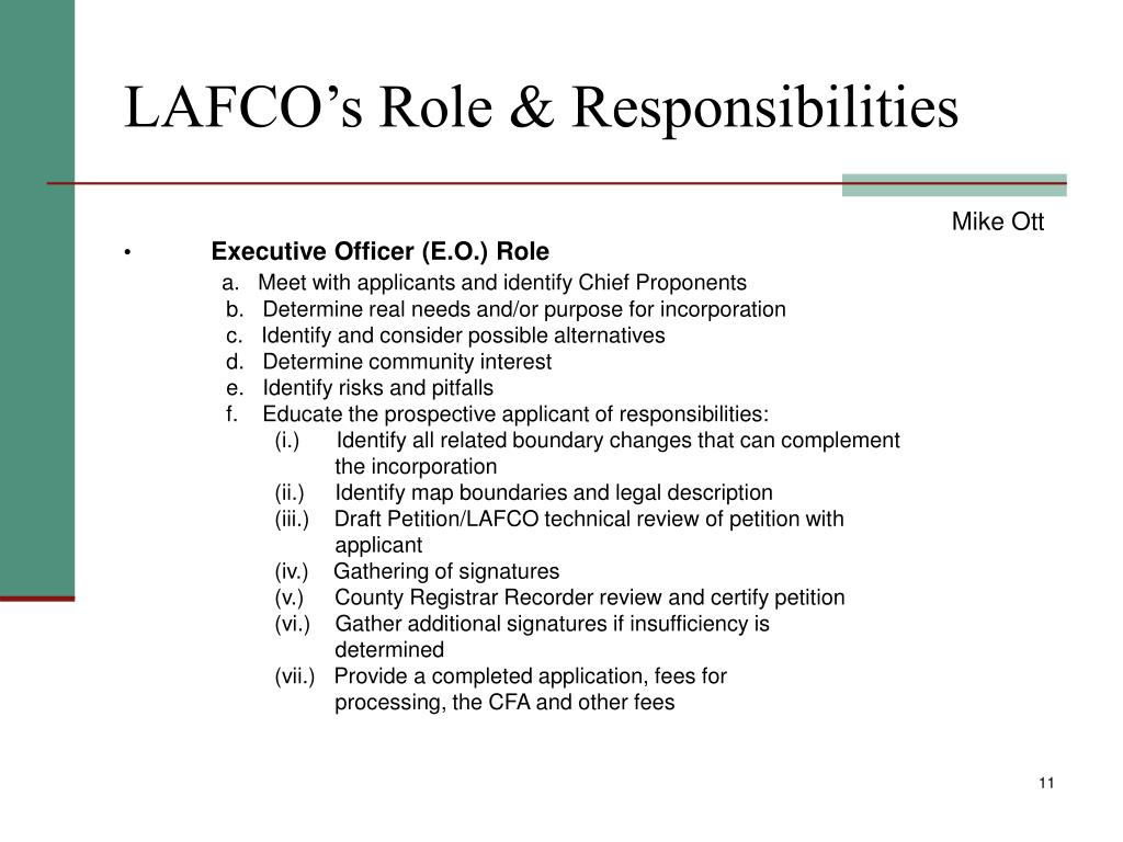 LAFCO's Role & Responsibilities