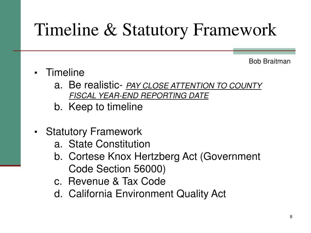 Timeline & Statutory Framework