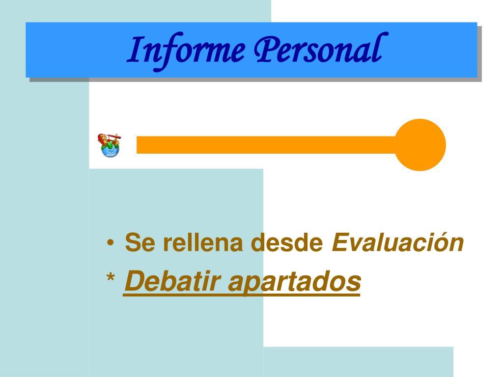 Informe Personal
