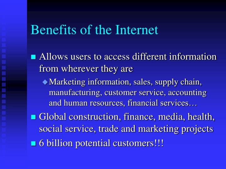Benefits of the internet