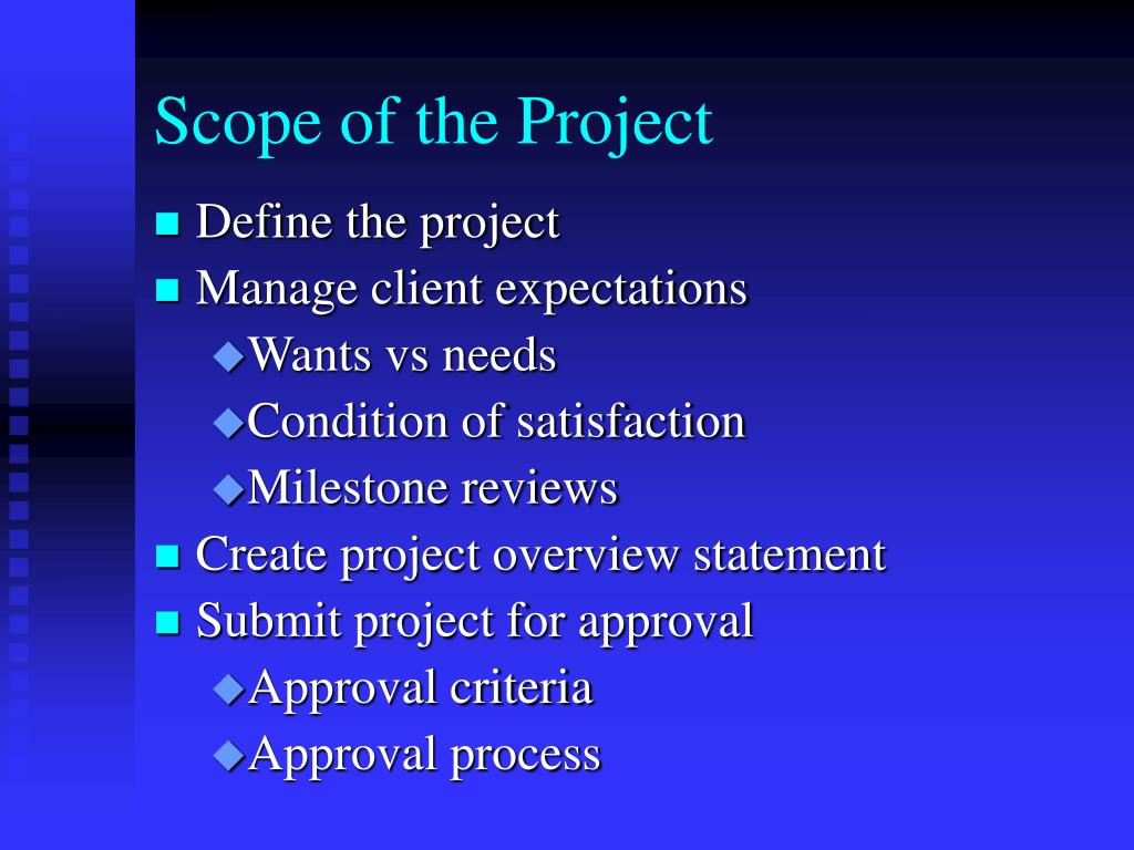Scope of the Project