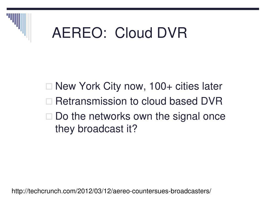 AEREO:  Cloud DVR