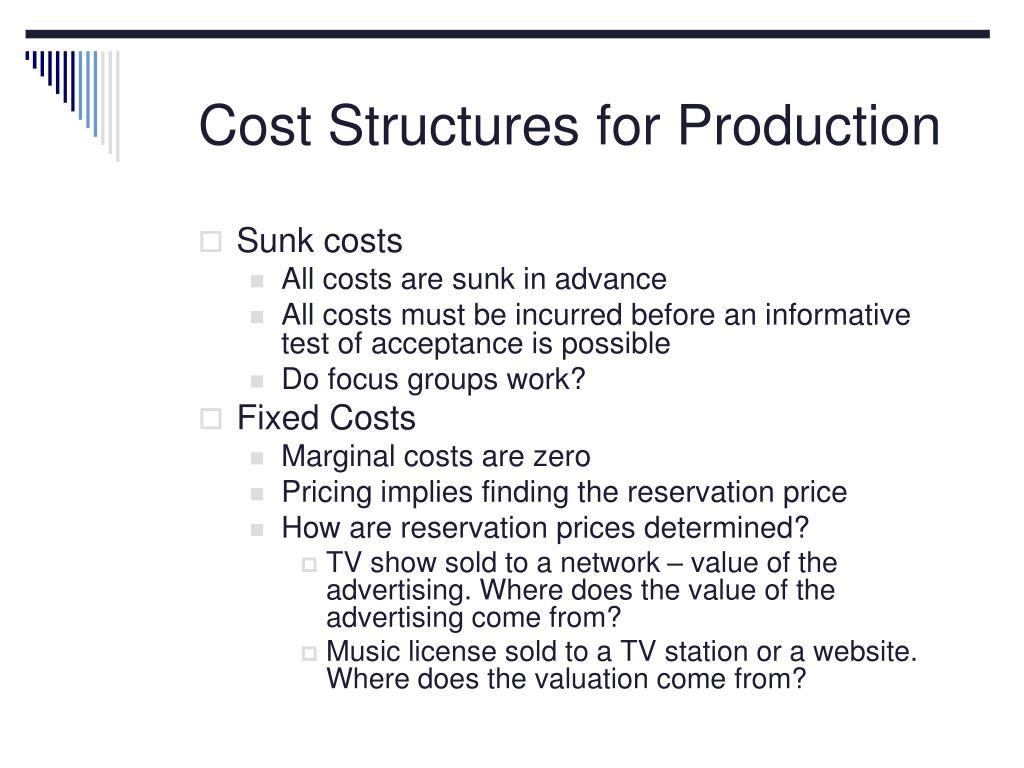 Cost Structures for Production