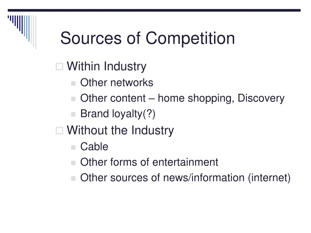 Sources of Competition