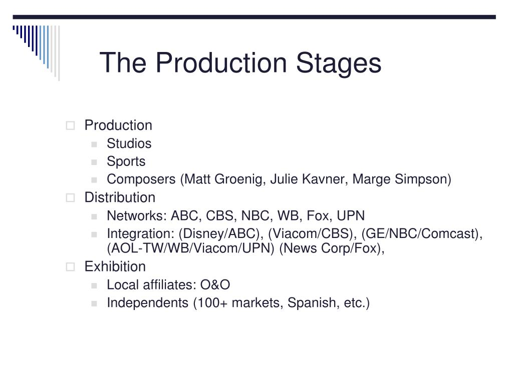 The Production Stages