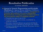 resultados publicados en revistas arbitradas19