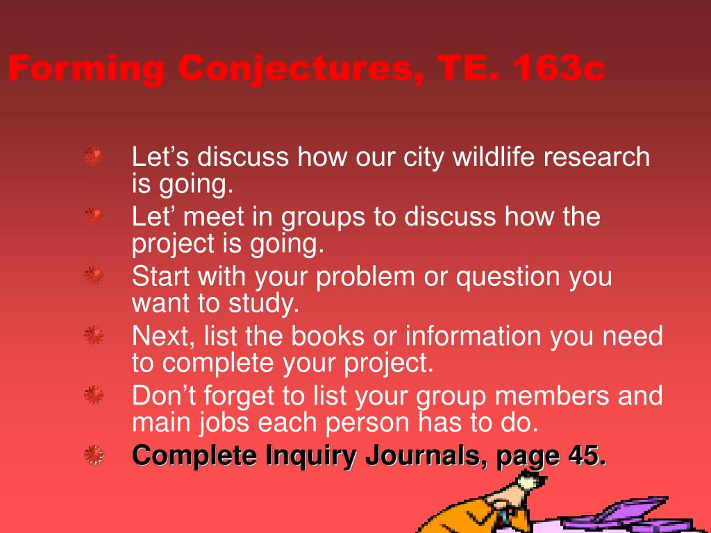 Forming Conjectures, TE. 163c