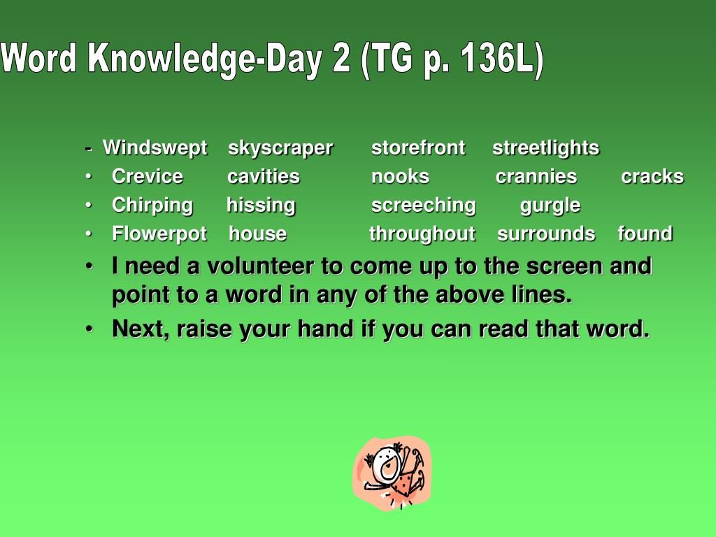 Word Knowledge-Day 2 (TG p. 136L)