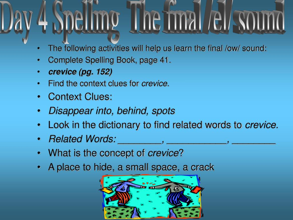 Day 4 Spelling  The final /el/ sound