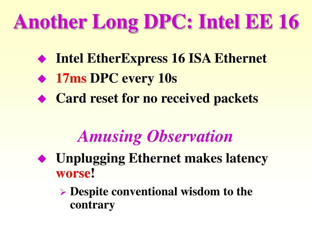 Another Long DPC: Intel EE 16