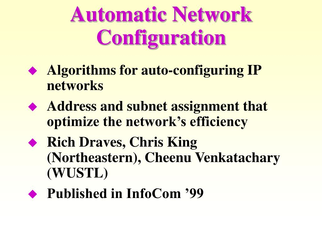 Automatic Network Configuration