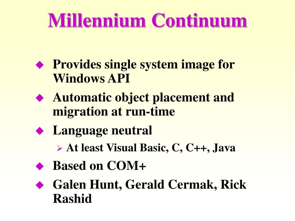 Millennium Continuum