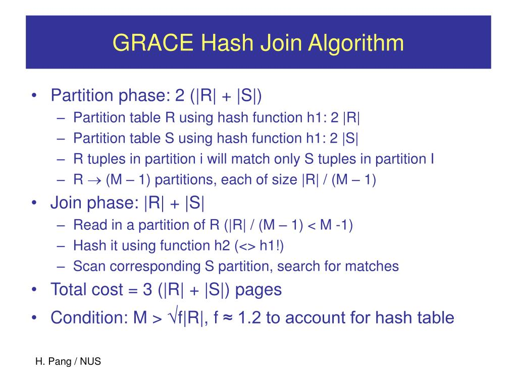 GRACE Hash Join Algorithm