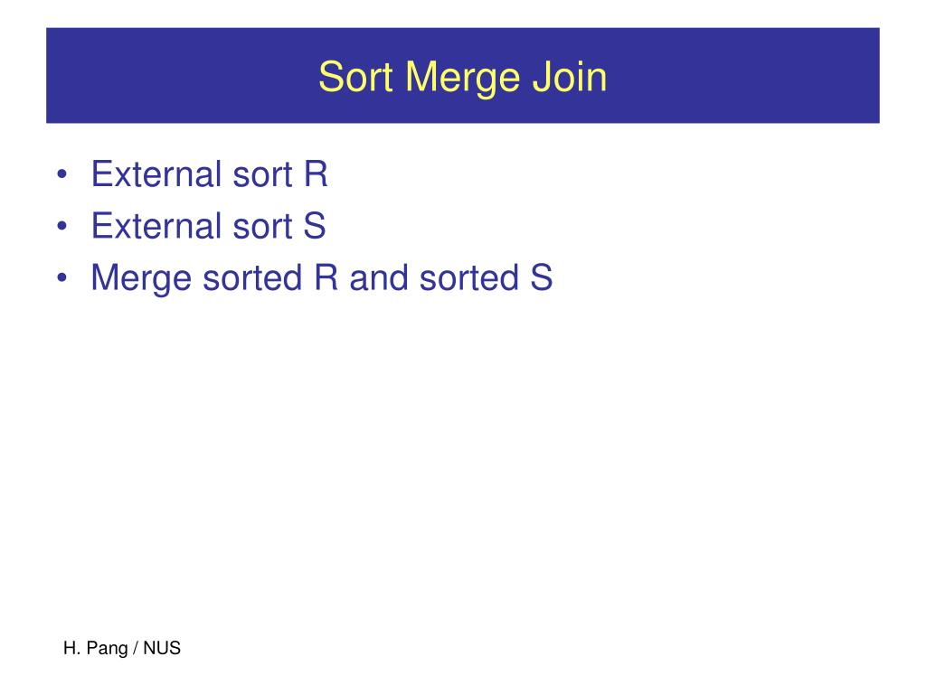 Sort Merge Join