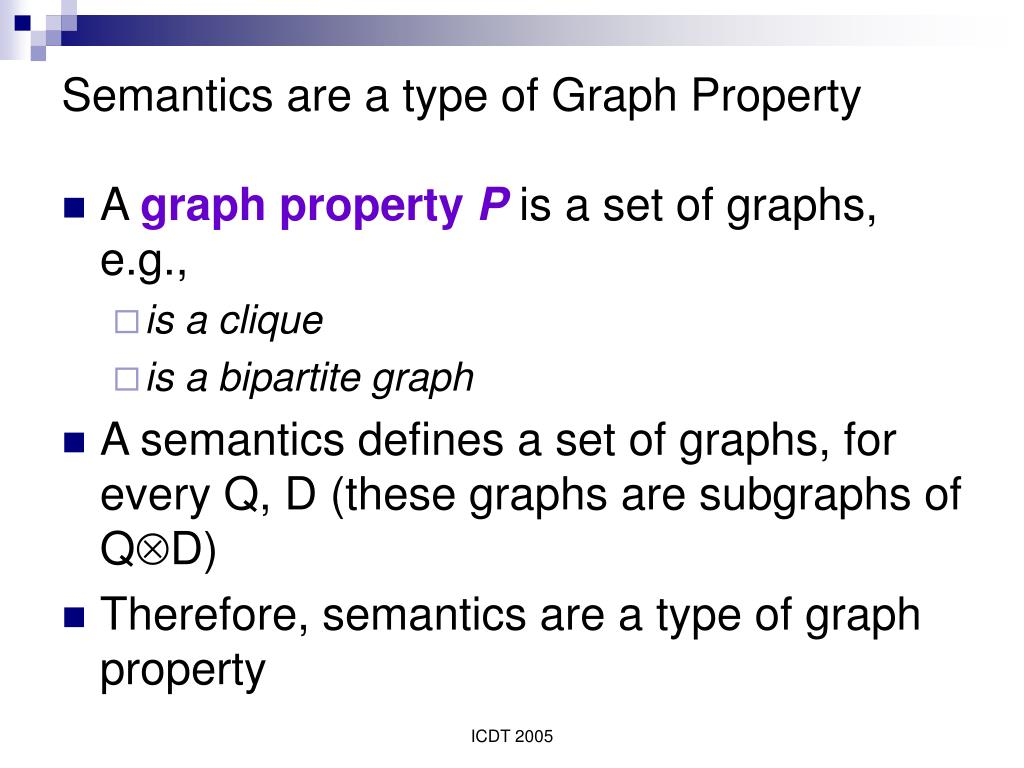 Semantics are a type of Graph Property