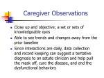 caregiver observations