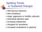spotting trends or sustained changes