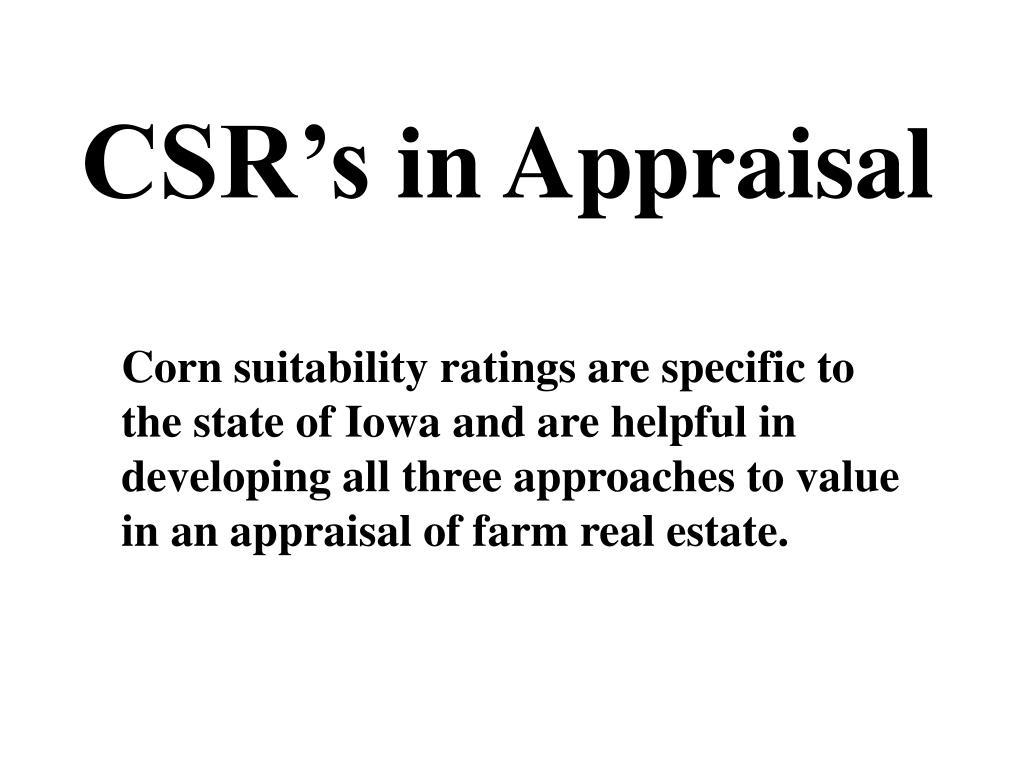 CSR's
