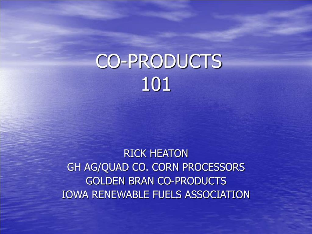 co products 101 l.