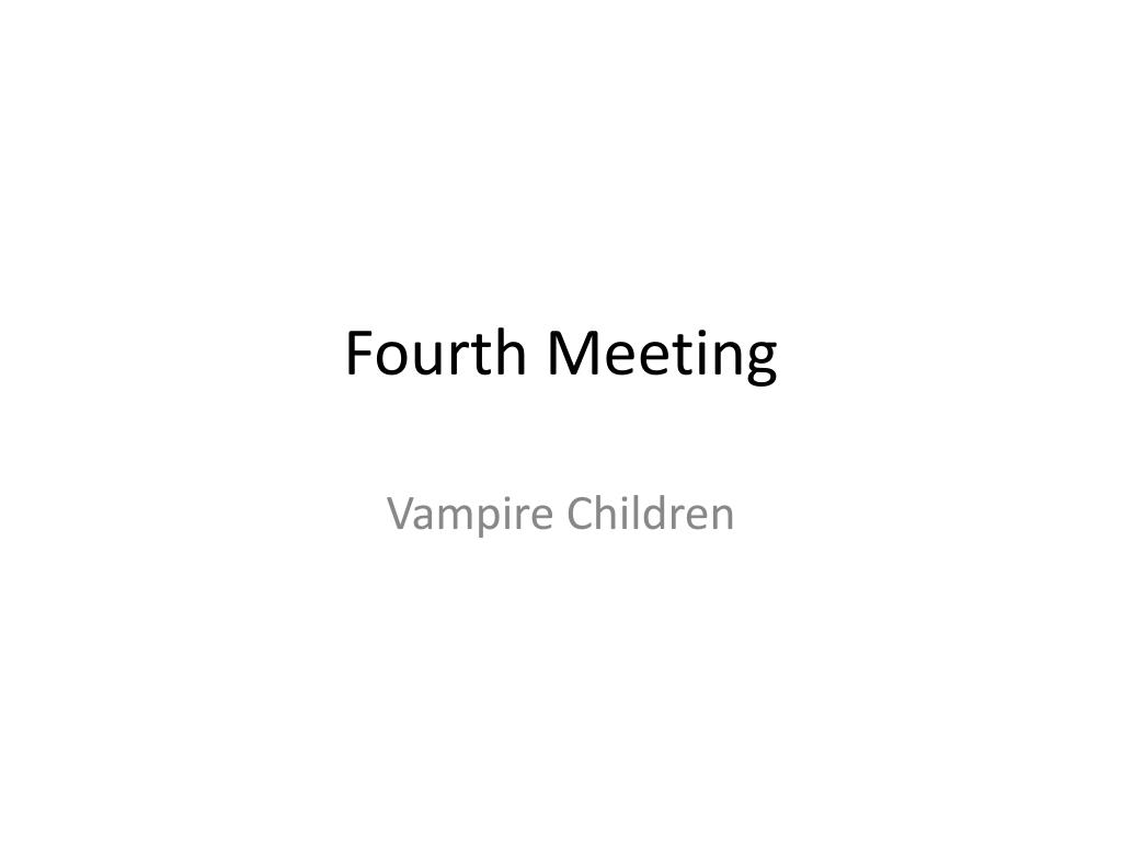 fourth meeting l.