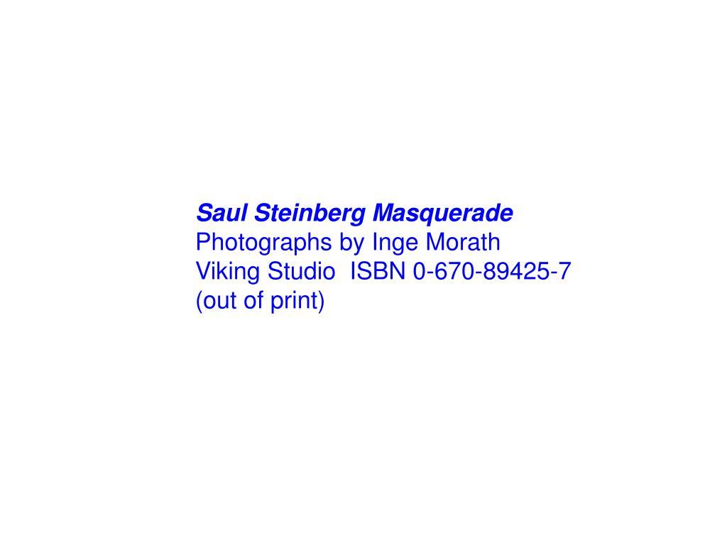 Saul Steinberg Masquerade