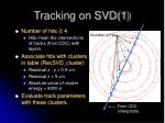 tracking on svd 1