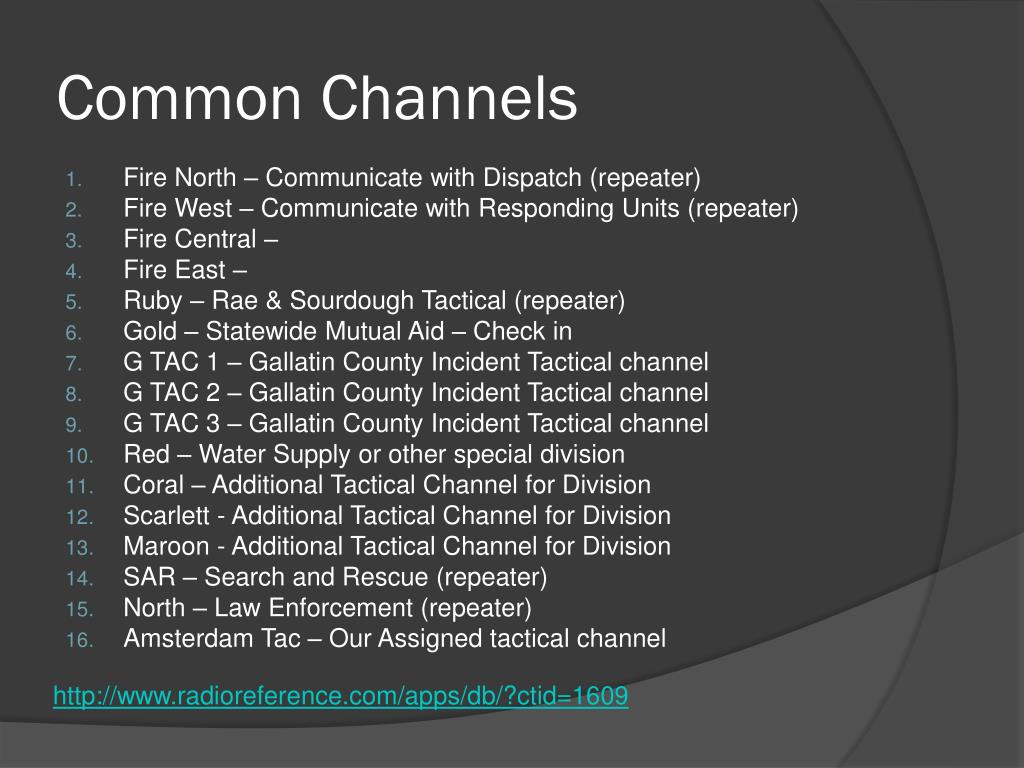 Common Channels