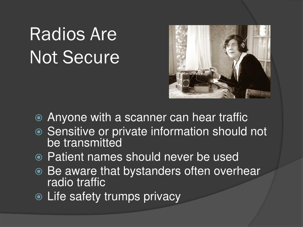 Radios Are Not Secure