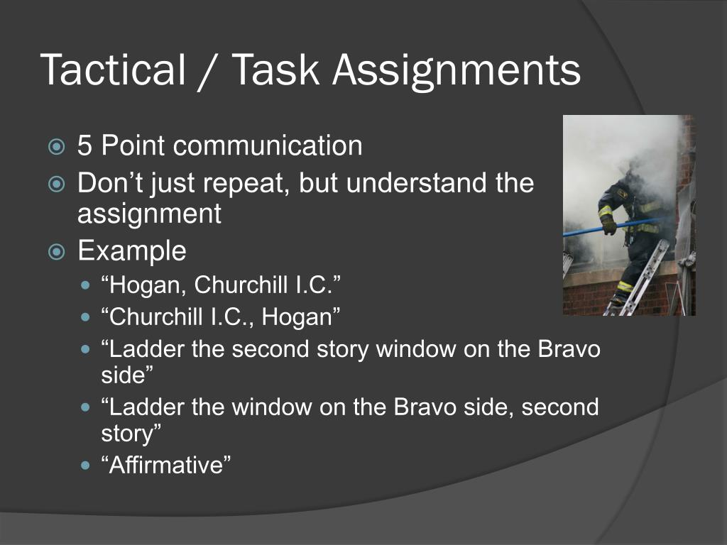 Tactical / Task Assignments