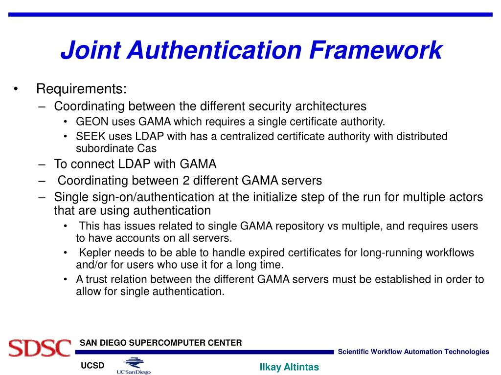 Joint Authentication Framework