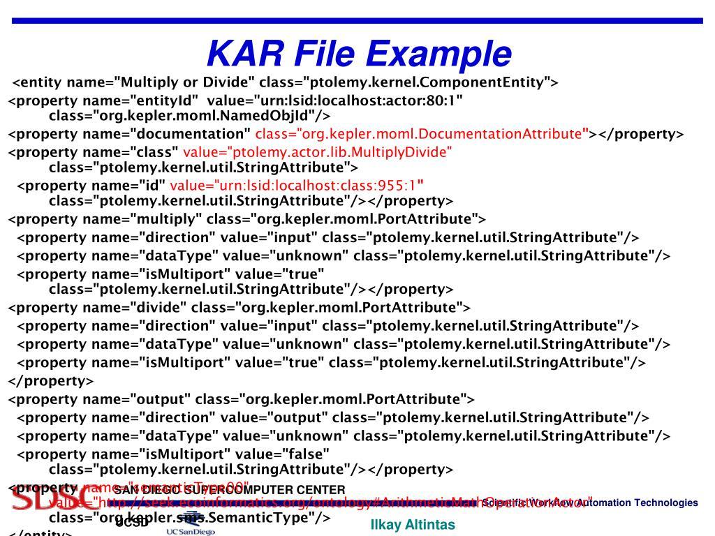 KAR File Example