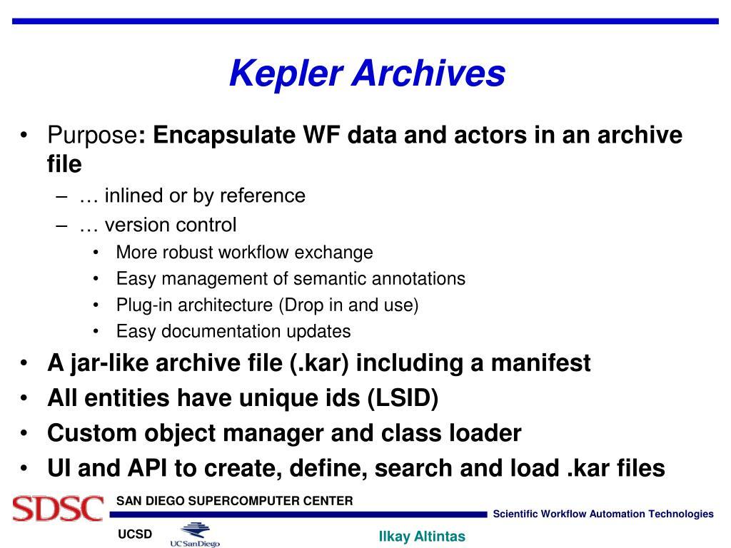 Kepler Archives