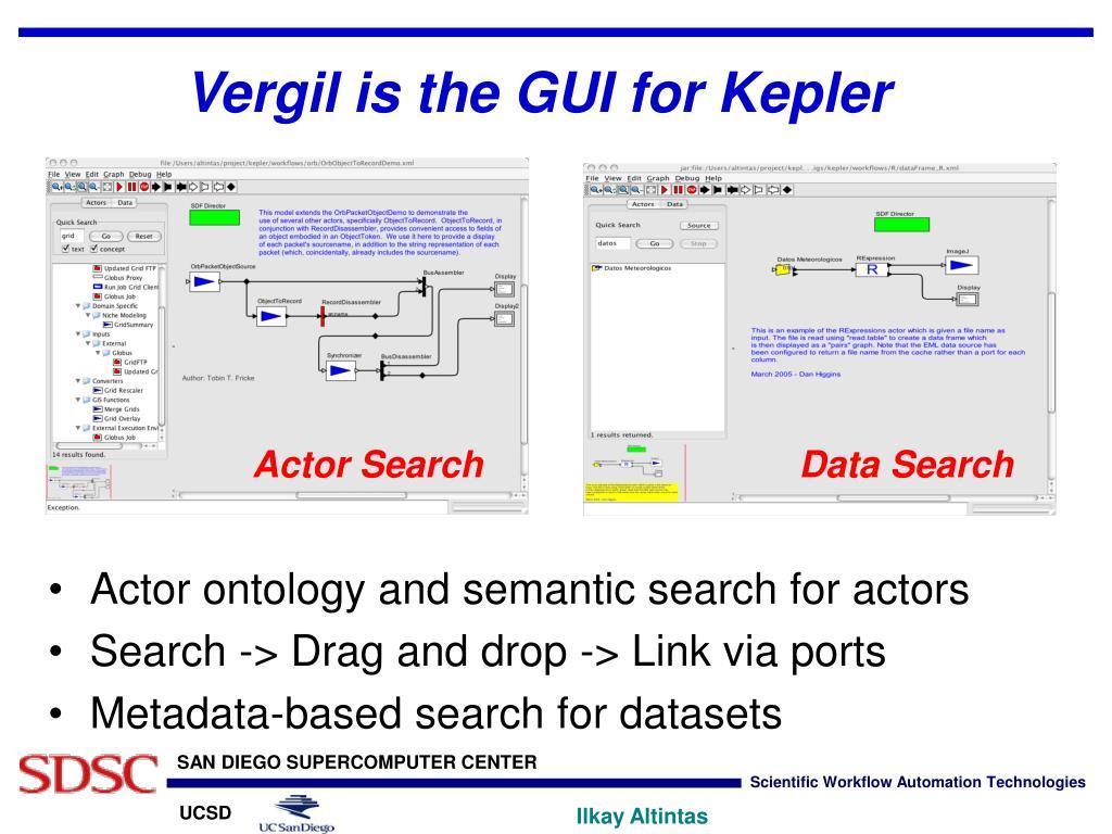 Vergil is the GUI for Kepler