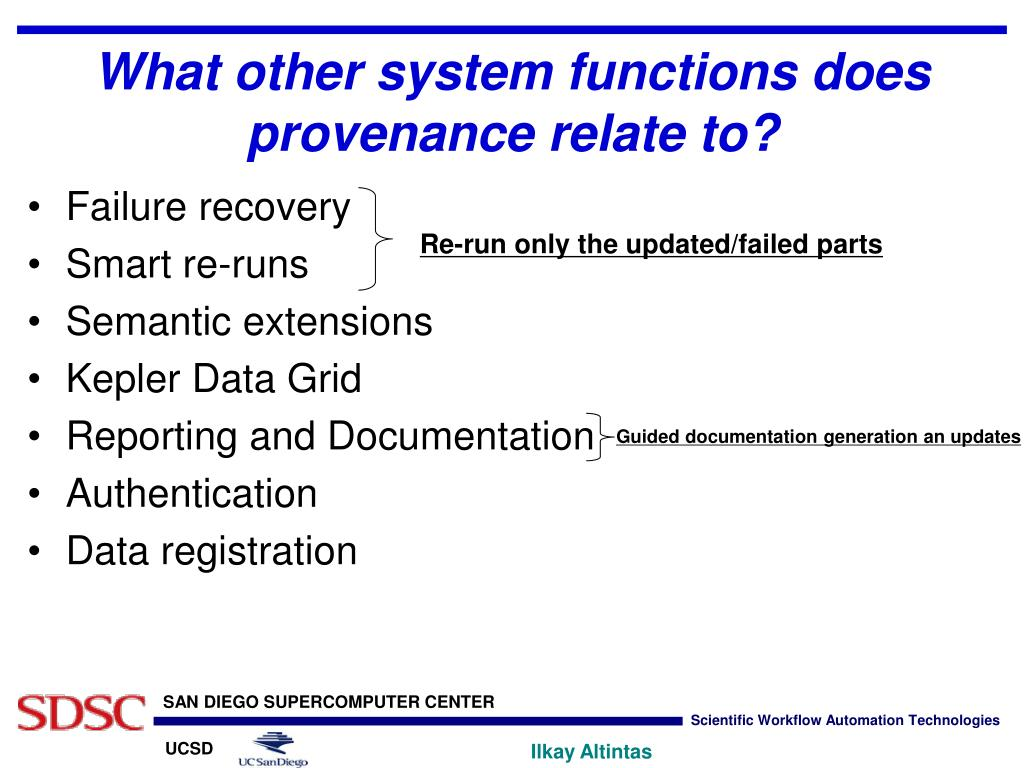 What other system functions does provenance relate to?