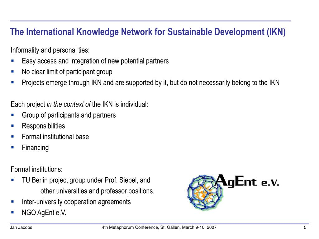 The International Knowledge Network for Sustainable Development (IKN)