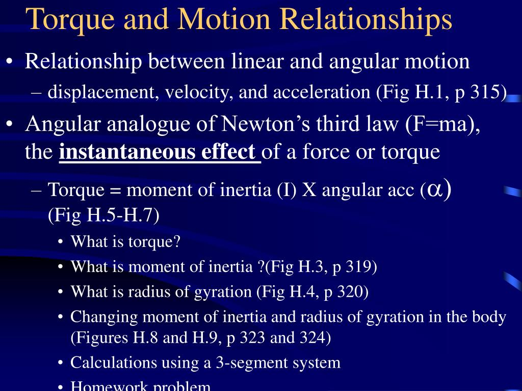 Torque and Motion Relationships