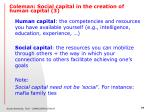 coleman social capital in the creation of human capital 3