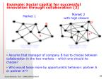 example social capital for successful innovation through collaboration 2
